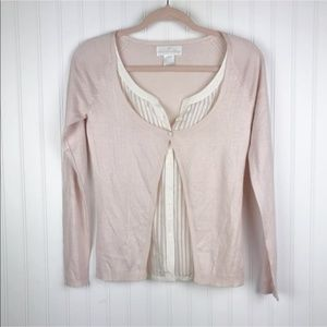 Soft Surroundings Silk Cashmere Cardigan Shell S